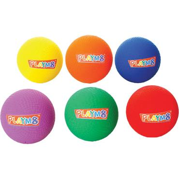 Playm8 (Set Of 6) 23Cm Playground Balls