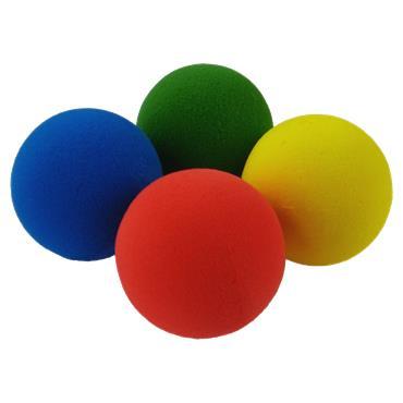 Foam Sponge Balls 7cm Team Colours (Pack of 12)