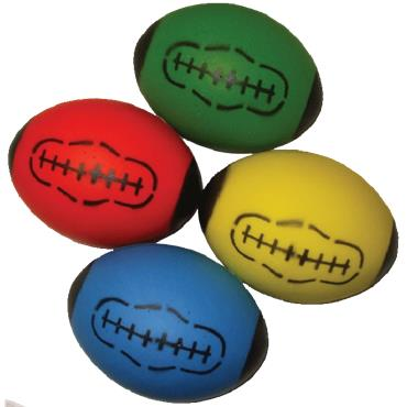 Soft Foam Rugby Balls Team Colours Pack