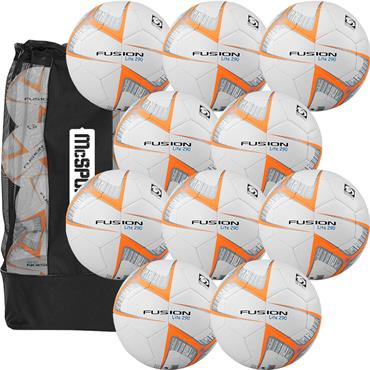 Precision Fusion Lite 290g Footballs 10 Pack + Free Bag