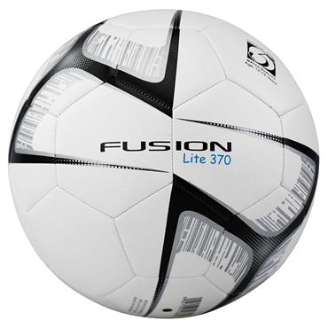 Precision Fusion Lite Match Quality Training Football | 370g (White/Black)