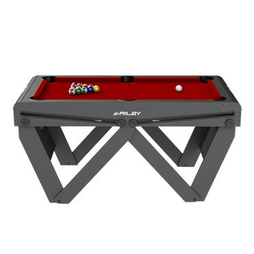 5ft Rolling Lay Flat Folding Pool Table | Red