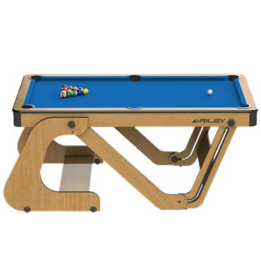 6ft Vertical Folding Pool Table | Blue