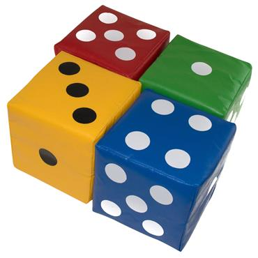 First-play Giant Softplay Dice (4 Pack)