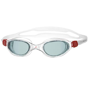 Speedo Futura Plus Swim Goggles | (Red / Smoke)