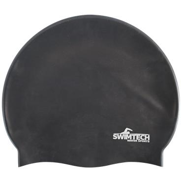 SwimTech Silicone Swim Cap | (Black)