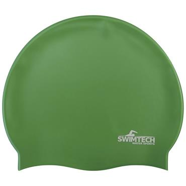 SwimTech Silicone Swim Cap - Green
