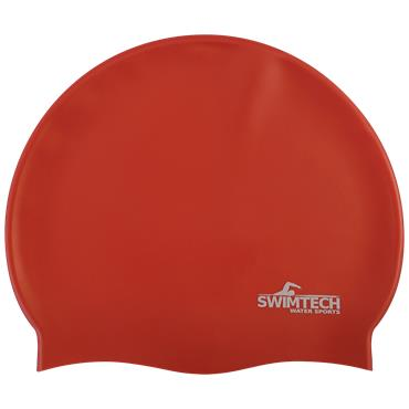 SwimTech Silicone Swim Cap | (Red)