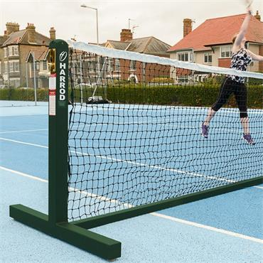Harrod Freestanding Tennis Posts Green