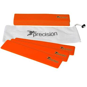 Precision Rectangular Shaped Rubber Markers - Orange ( Set of 15 )