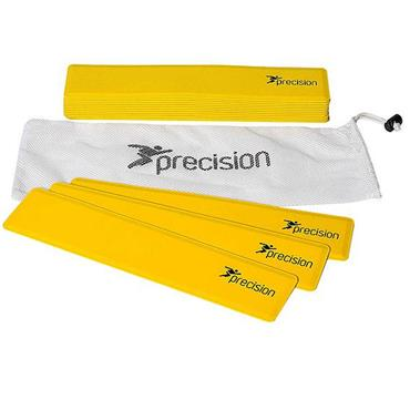 Precision Rectangular Shaped Rubber Markers - Yellow ( Set of 15 )