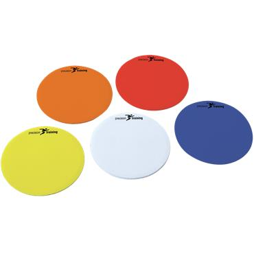 Precision Training Multi Colour Round Marker Discs | 10 Pack