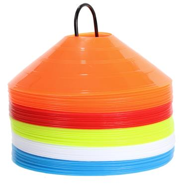 Training Saucer Cones (Assorted Colours) | 50 Pack