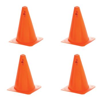 "Precision Training Traffic Cones |  9""   (4 Pack)"