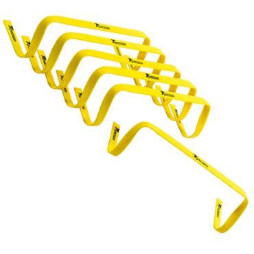"Precision 6"" High Flat Hurdles Set - Yellow | 6 Pack"