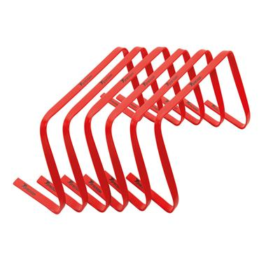 "Precision 9"" High Flat Hurdles Set - Red ( Set of 6 )"
