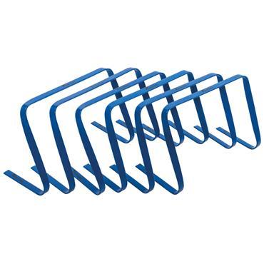 "Precision 12"" High Flat Hurdles Set (Blue) | 6 Pack"