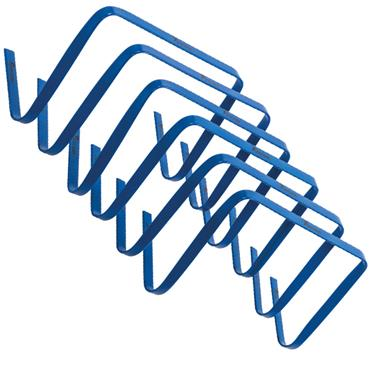 "Precision 12"" High Flat Hurdles Set (Blue) 