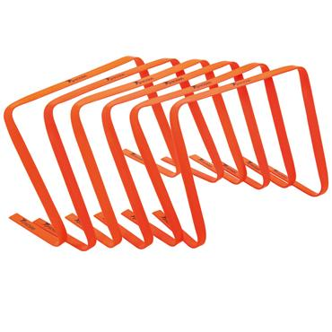 "Precision 15"" High Flat Hurdles Set (Orange) 