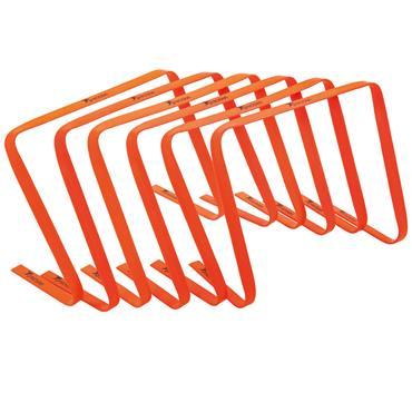 "Precision 15"" High Flat Hurdles Set (Orange) | 6 Pack"