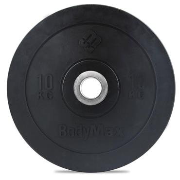 BodyMax Olympic Black Rubber Bumper Plates | 10Kg
