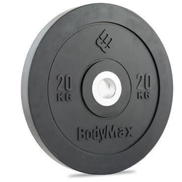 BodyMax Olympic Black Rubber Bumper Plates| 20Kg