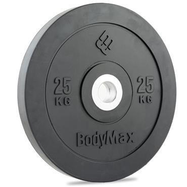 BodyMax Olympic Black Rubber Bumper Plates| 25Kg