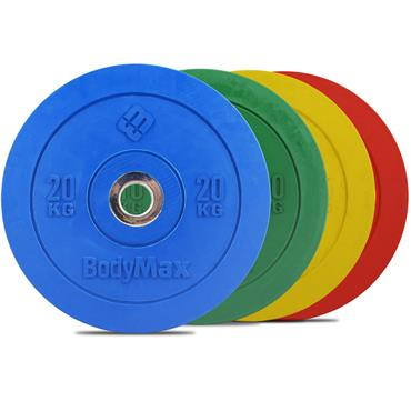 Bodymax Coloured Olympic Rubber Bumper Disc | 15kg