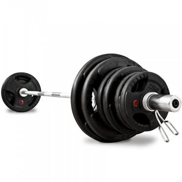 Bodymax 100Kg Olympic Rubber Radial Barbell Kit with 6ft Bar