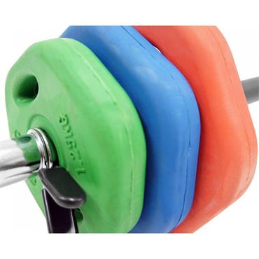 Bodymax Coloured Rubber Studio Barbell Set | 20kg