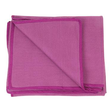 Fitness-Mad Hand Woven Cotton Yoga Blanket | AUBERGINE