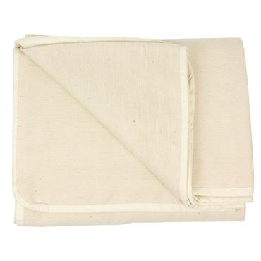 Fitness-Mad Hand Woven Cotton Yoga Blanket | NATURAL