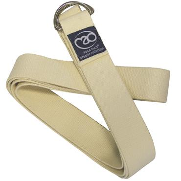 Fitness-Mad Organic Cotton Yoga Belt with Metal D Ring | 2.5m