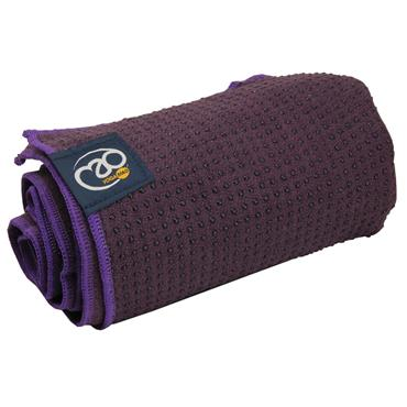 Fitness-Mad Grip Dot Yoga Towel | Aubergine