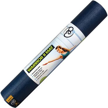 Fitness-Mad Warrior II Yoga Mat | 4mm (Dark Blue)