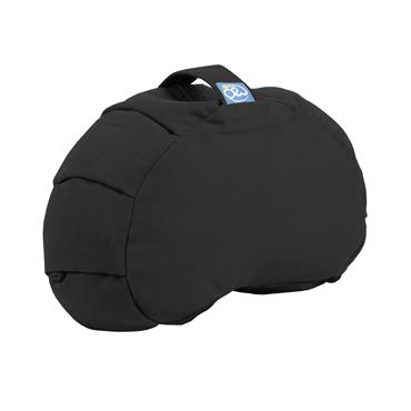 Fitness-Mad Pleated Crescent Zafu Cushion - Black