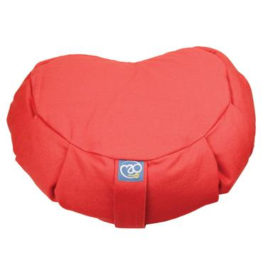 Fitness-Mad Pleated Crescent Shaped Zafu Cushion   (BURGUNDY)