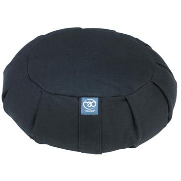 Fitness-Mad Pleated Round Zafu Cushion | (BLACK)