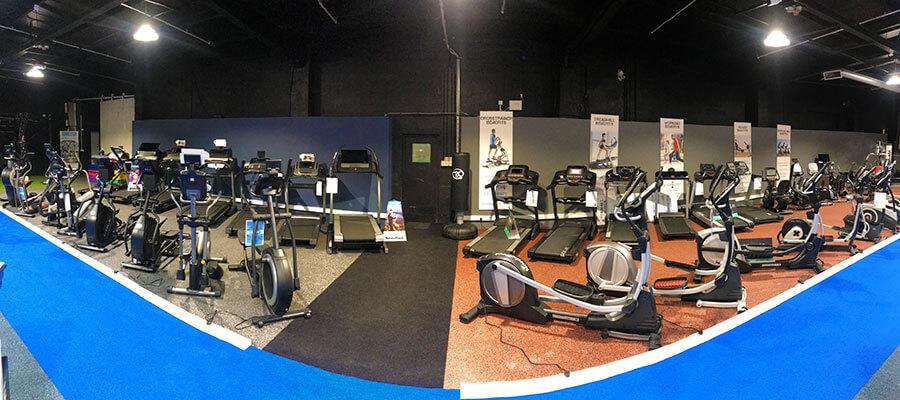 cardio equipment in new showroom
