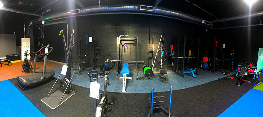 strength equipment in new showroom