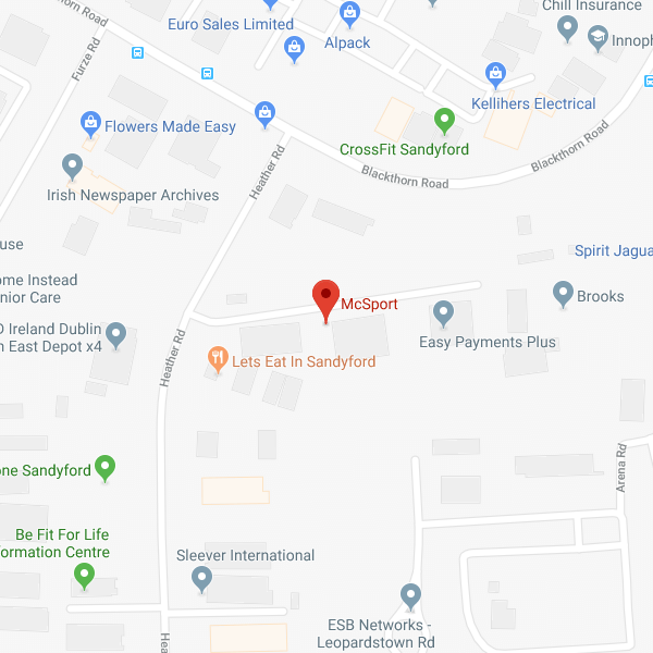 McSport Showroom location map