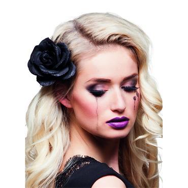 Black Rose Hair Accessory