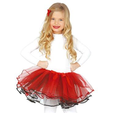 Child Red Ribbon Tutu
