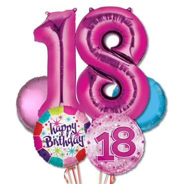 18TH Birthday Foil Balloon Bouquet Delivery – Deluxe