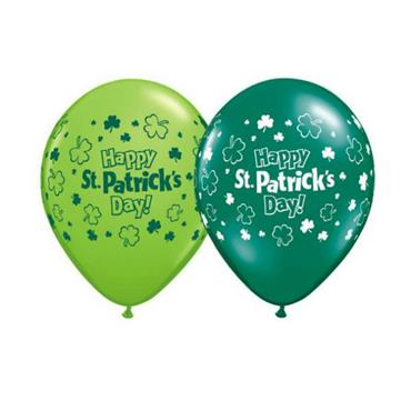 St Patricks Day Qualatex Balloons Assorted Lime & Emerald - Pack of 25