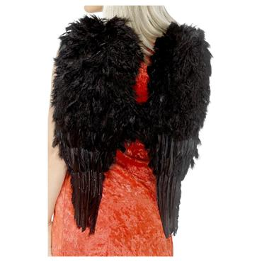 WINGS FEATHER BLACK ANGEL 50cm