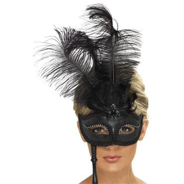 Baroque Fantasy Eyemask, Black