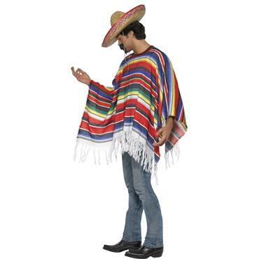 Multi Coloured Rainbow Poncho - Pride