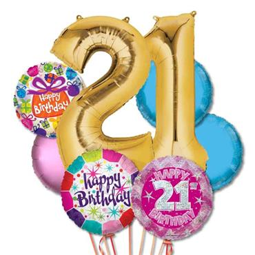 21ST Birthday Foil Balloon Bouquet Delivery – Deluxe