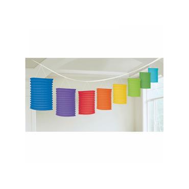 Pride Rainbow Paper Lantern Garland 3.6m